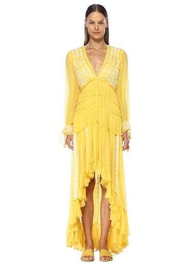 Rococo Sand Plaj Elbisesi Sarı